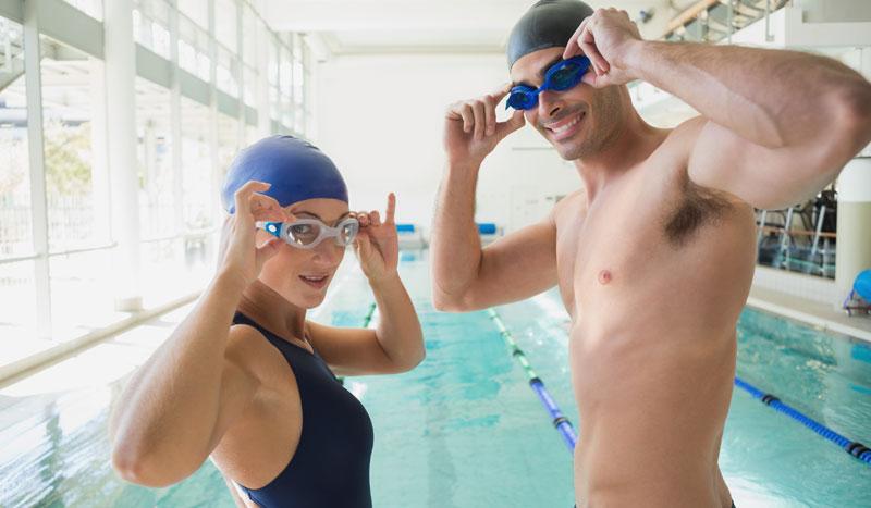Entrenamiento de natación en pareja