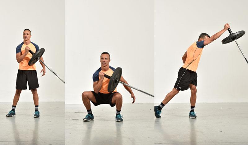 Fija la barra para entrenar todo tu cuerpo: ejercicios con Landmine