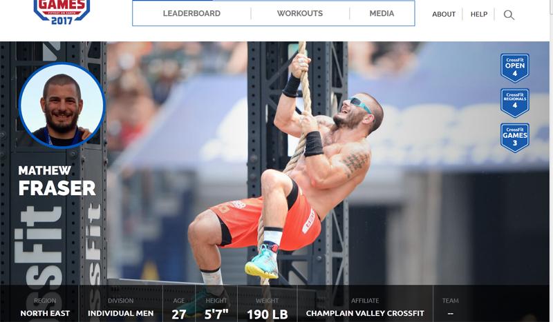 Mathew Fraser: conociendo a los líderes de los Open de CrossFit 2017