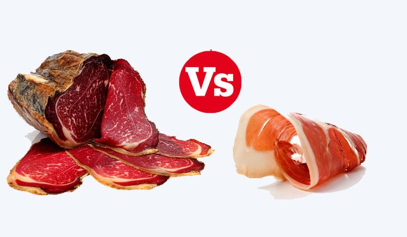 Jamón serrano versus cecina, ¿cuál es mejor nutricionalmente?