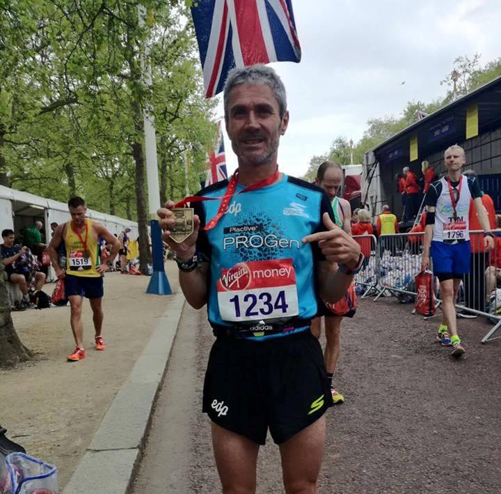 Martin Fiz, segundo en el Maratón de Londres