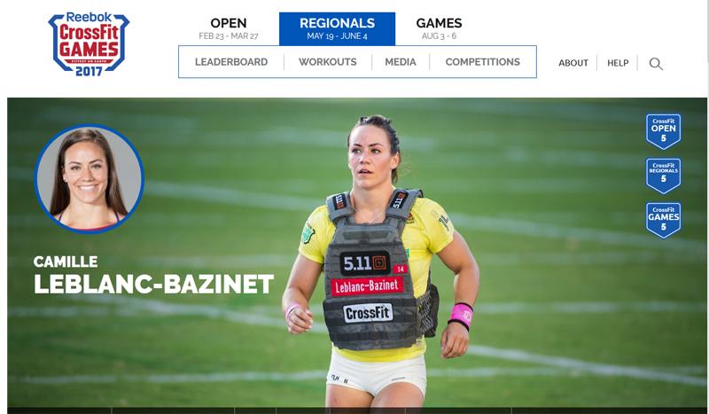Camille Leblanc-Bazinet, la veterana del CrossFit queda tercera en los Open 2017