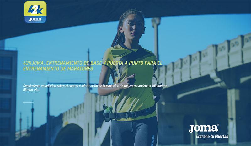 La aplicación de Joma para completar un maratón