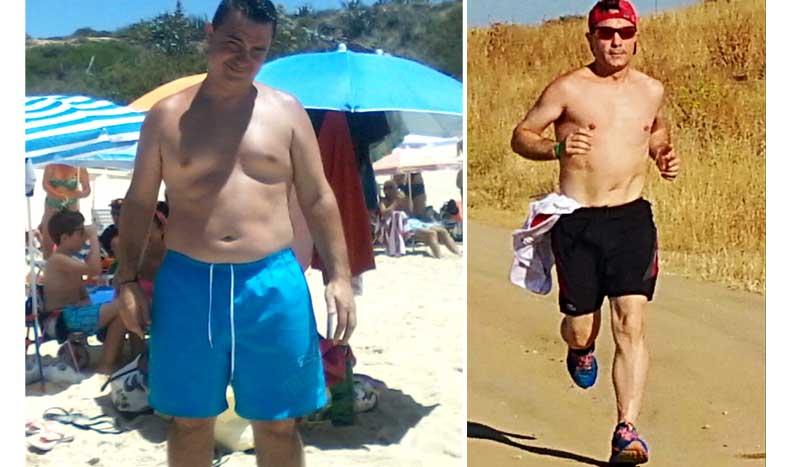 """Club Pérdida de peso: Juanjo Aterido: """"no me planteé hacer una dieta sino comer sano"""""""
