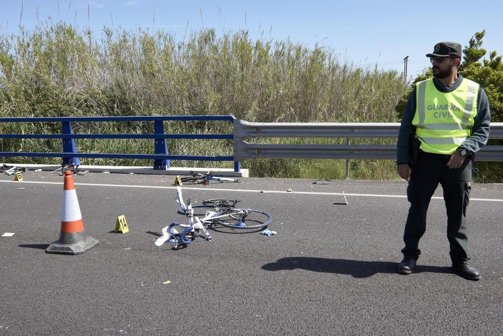 Una conductora borracha y drogada mata a tres ciclistas y hiere de gravedad a otros dos