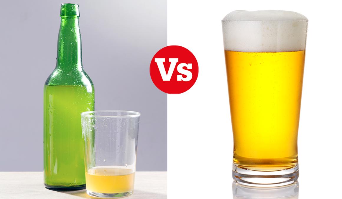 Cerveza o sidra, ¿qué es más sano?