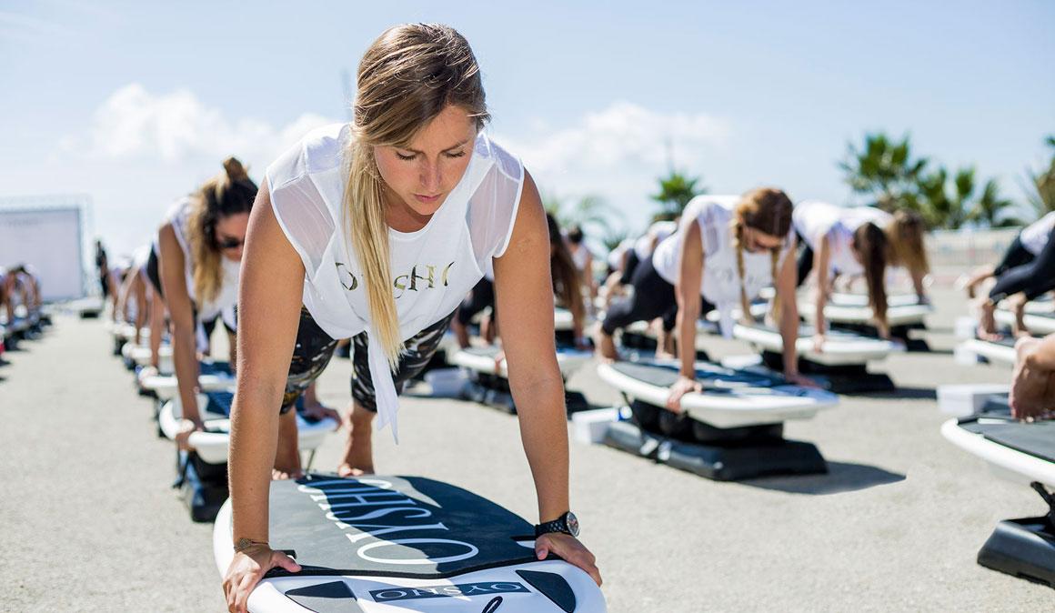 Fitness + surf en el Oysho Surf´s Up