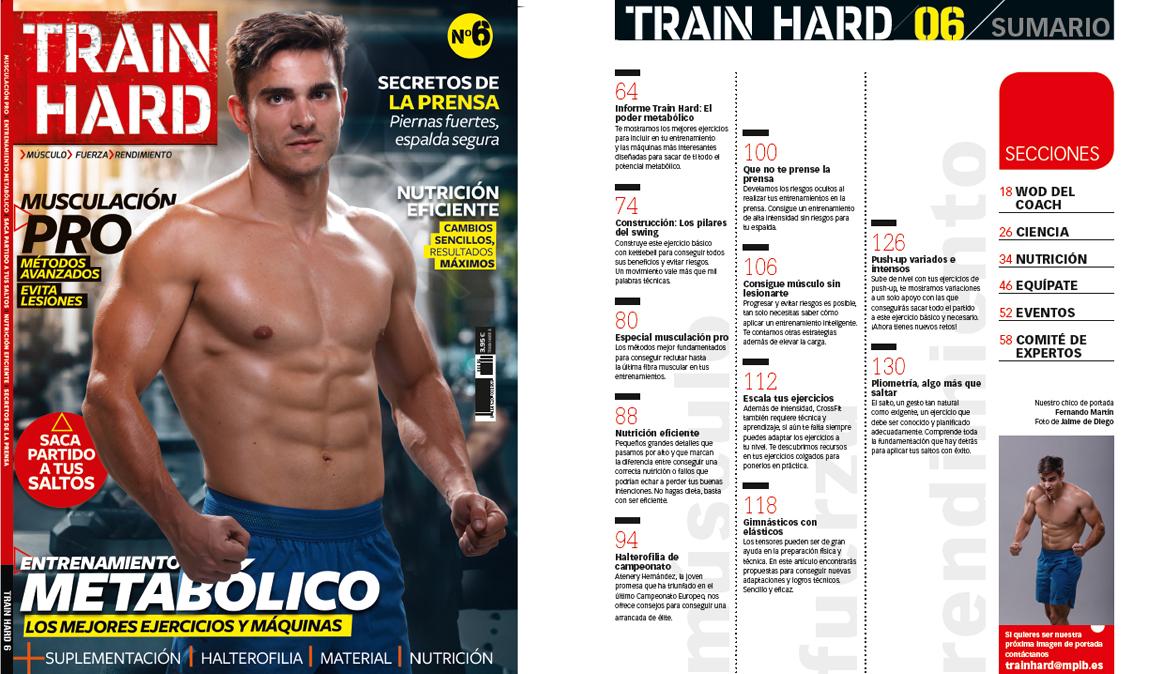 Revista Train Hard nº6, ¡ya en tu quiosco!