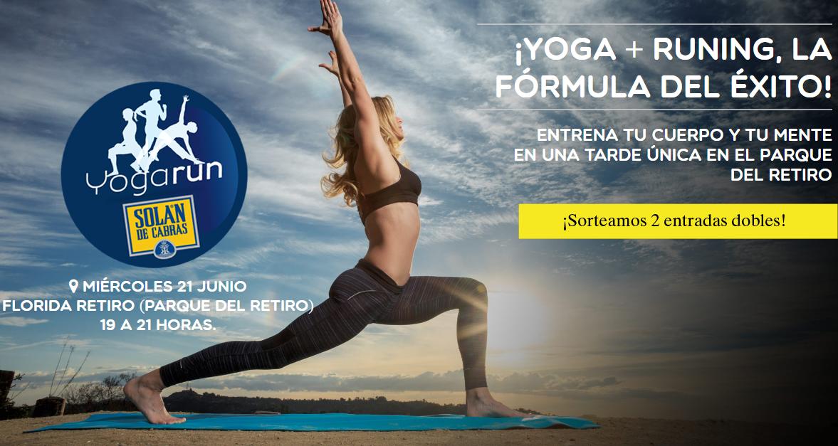 ¡Sorteamos dos invitaciones dobles para el YogaRun de este miércoles en El Retiro!