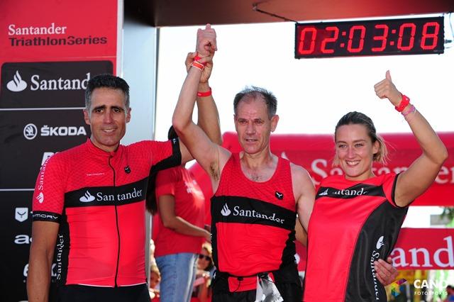 Mireia, Indurain y Abel Antón, equipo de ensueño para el Triatlón de Barcelona