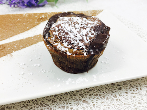 Coulant de chocolate fitness