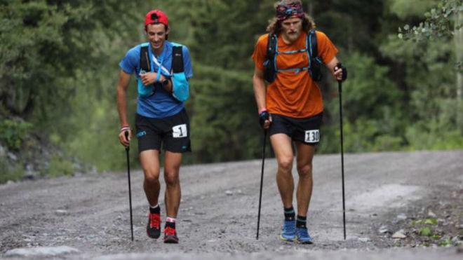 Kilian Jornet gana con un brazo en cabestrillo una carrera de 100 millas