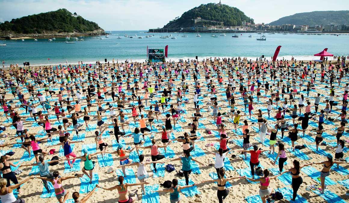 Yoga + running + SUP, ¡así vivimos el Roxy Fitness de San Sebastián!