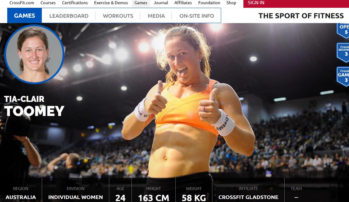 El CrossFit ya tiene nueva emperatriz: así es Tia-Clair Toomey