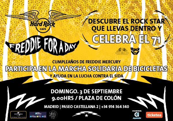 La marcha ciclista en Madrid homenaje a Freddie Mercury