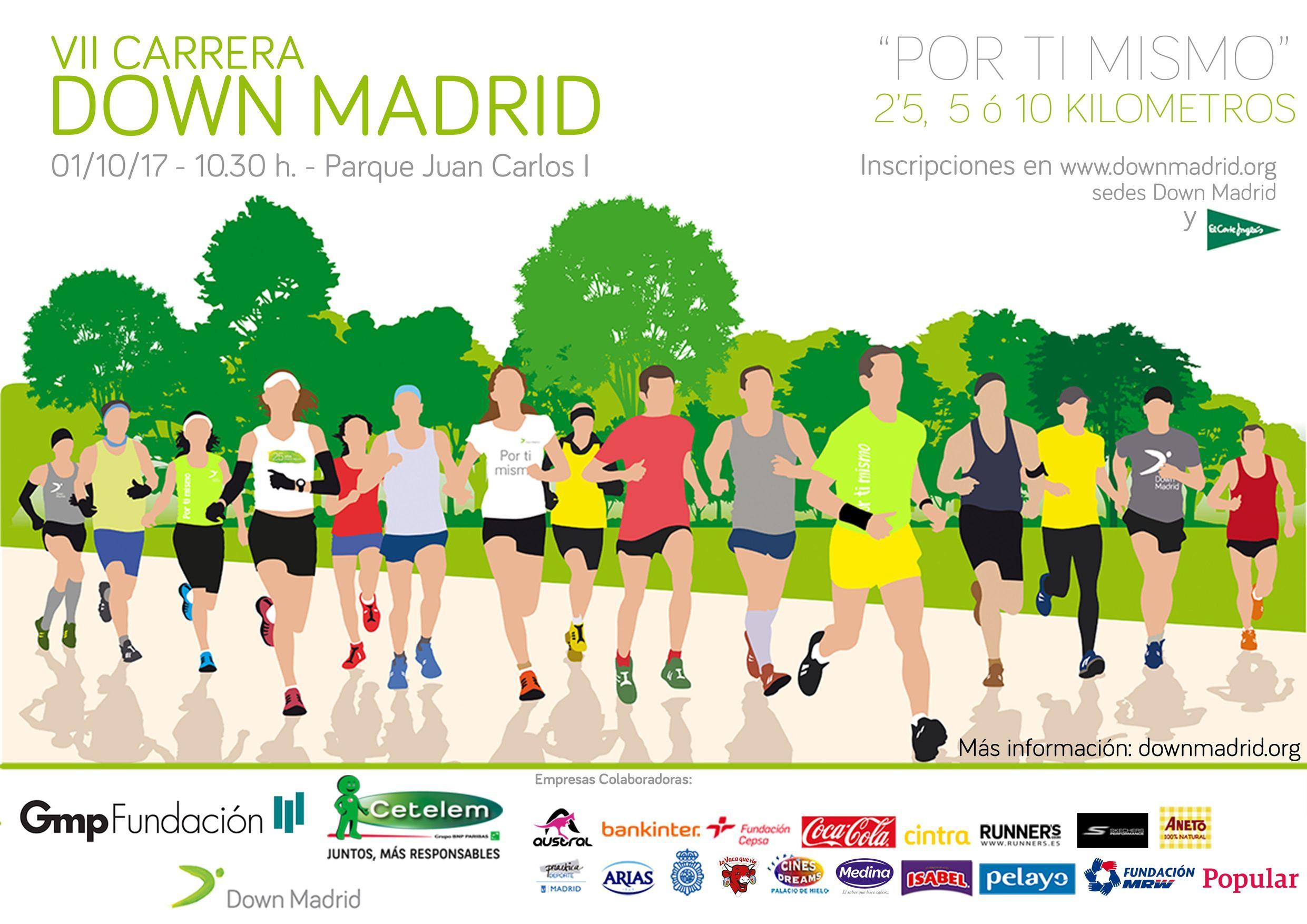 El 1 de octubre llega la carrera de Down Madrid