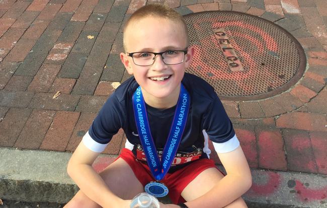 ¡1 hora 34 minutos en medio maratón con 9 años!