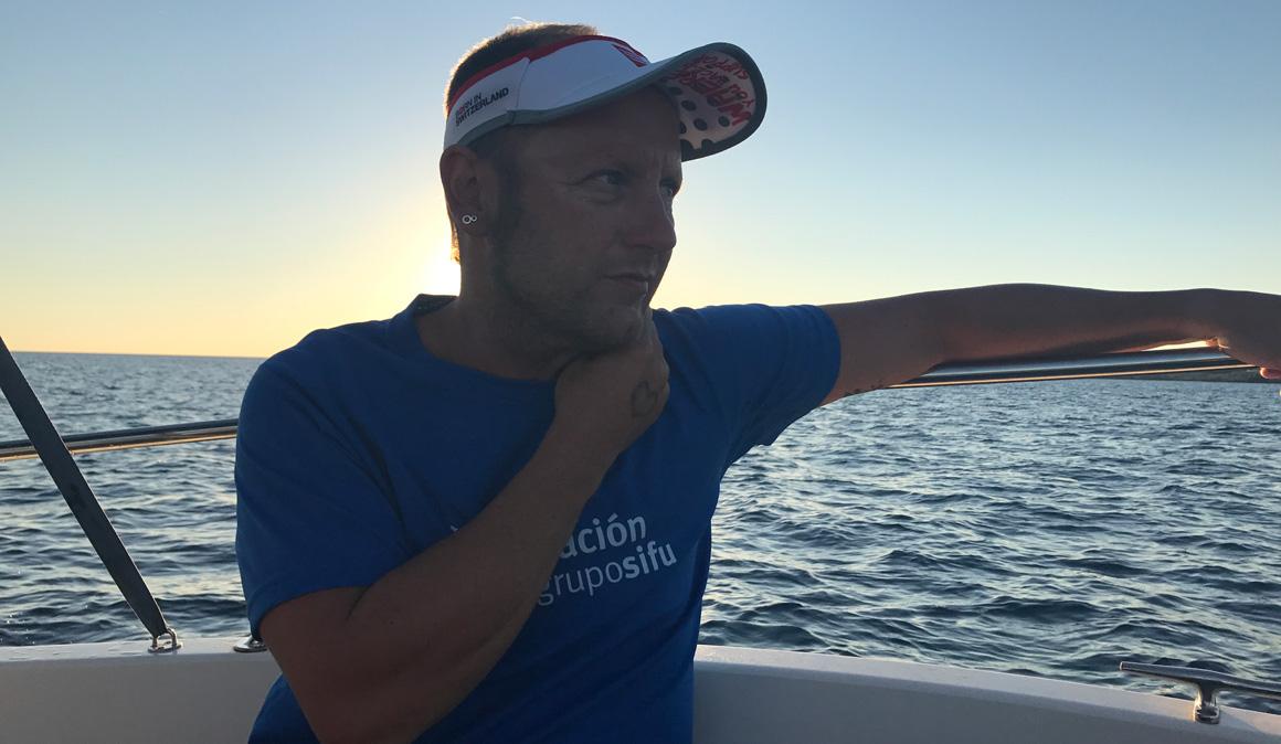 Martí Riera, el nadador con lesión medular que cruzó a nado el Canal de Menorca
