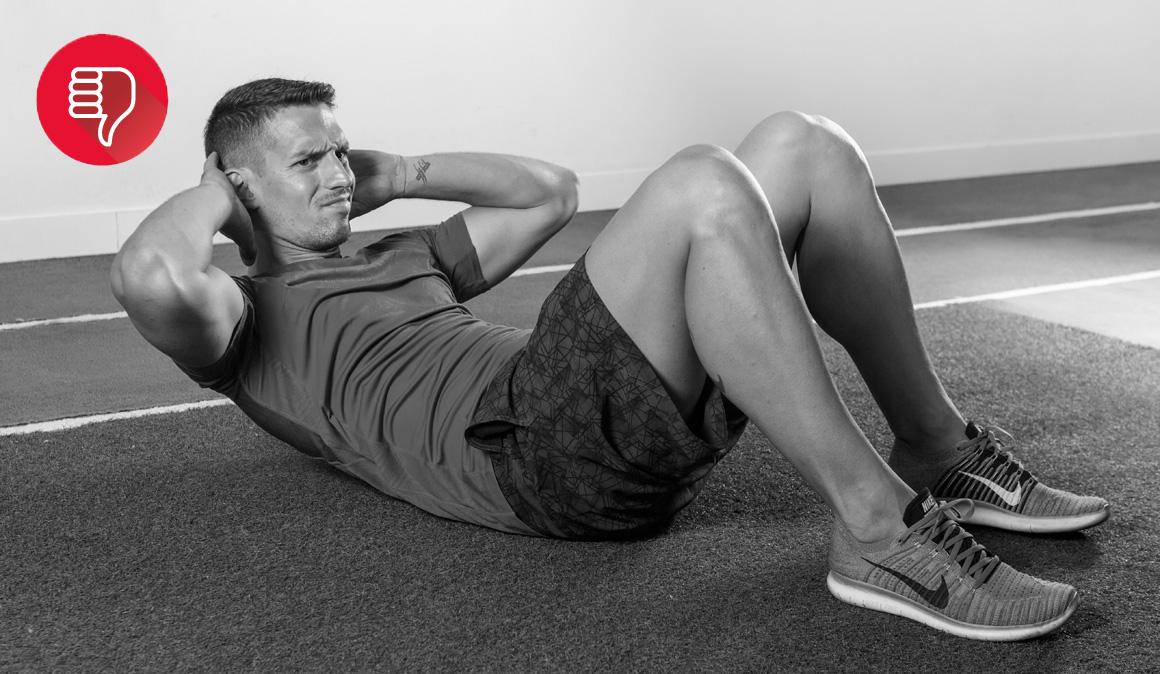 Si quieres perder barriga no hagas estos ejercicios