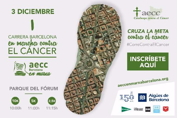 ¡El 3 de diciembre cruza la meta contra el cáncer en Barcelona!