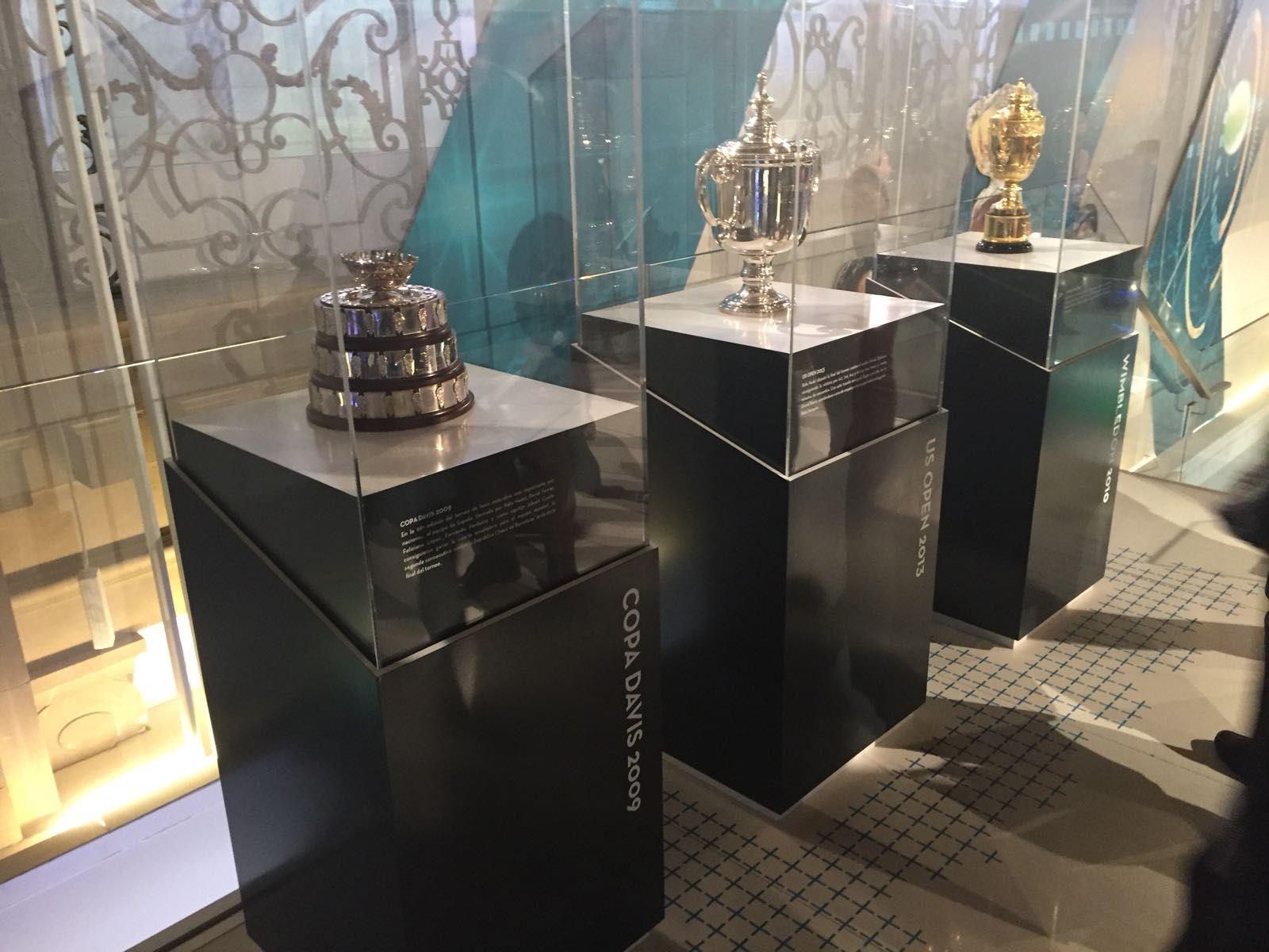 Los trofeos de Rafa Nadal en Madrid