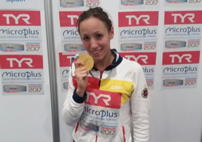 Jessica Vall, oro en el Europeo de 200 braza