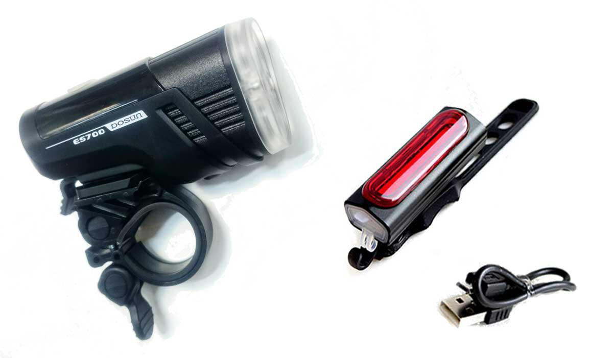 Kit de luces para bicicleta Dosun ES700 + ESC10