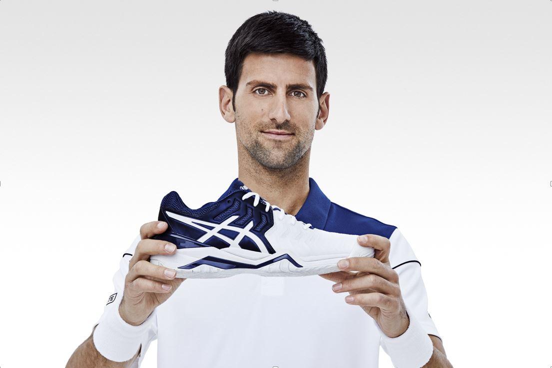 Asics lanza la primera zapatilla con Djokovic