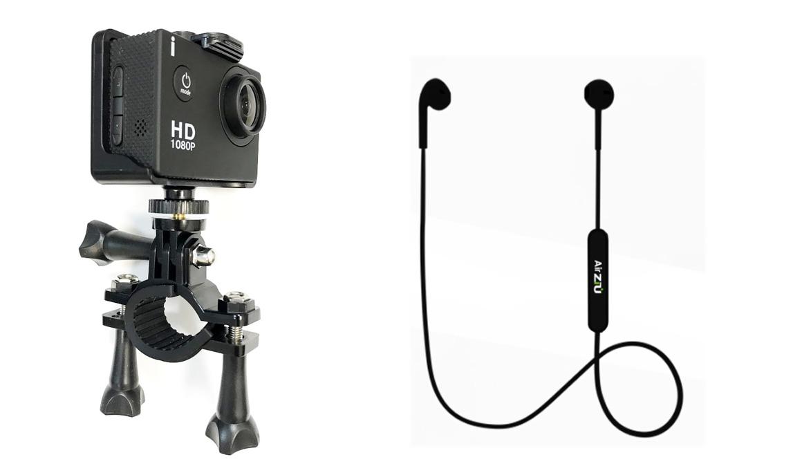 La cámara de acción y los auriculares Bluetooth que te llevas con tu suscripción a Sport Life