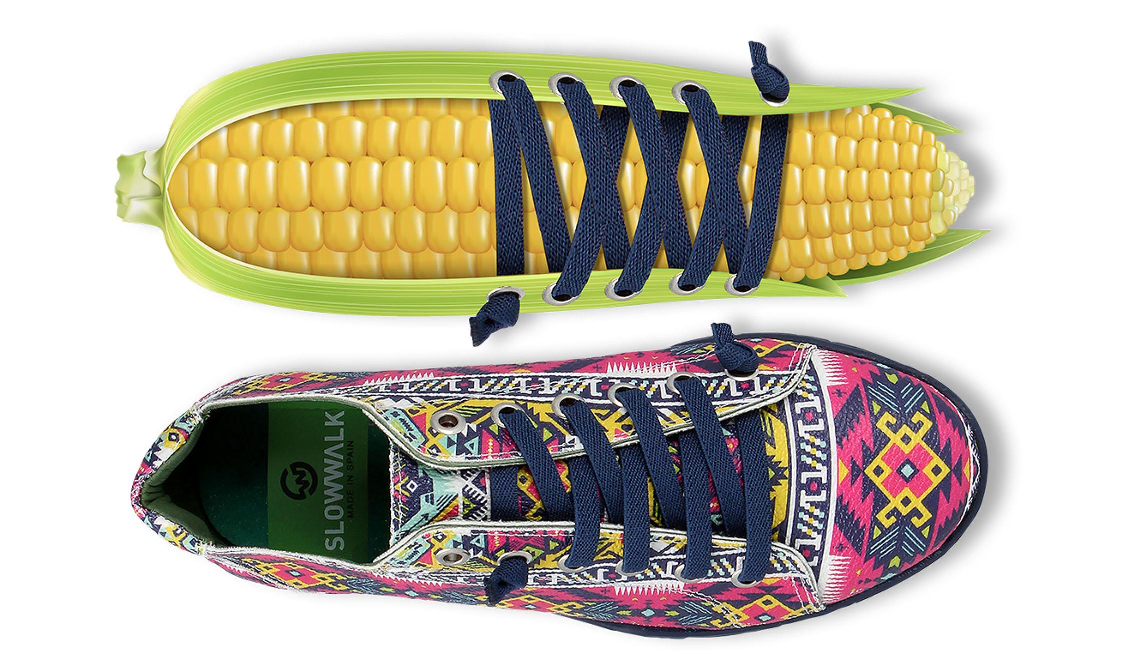 Las 'zapas' que están hechas de maíz