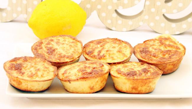 Receta de bizcochos fitness de limón bajos en grasas y ricos en proteínas