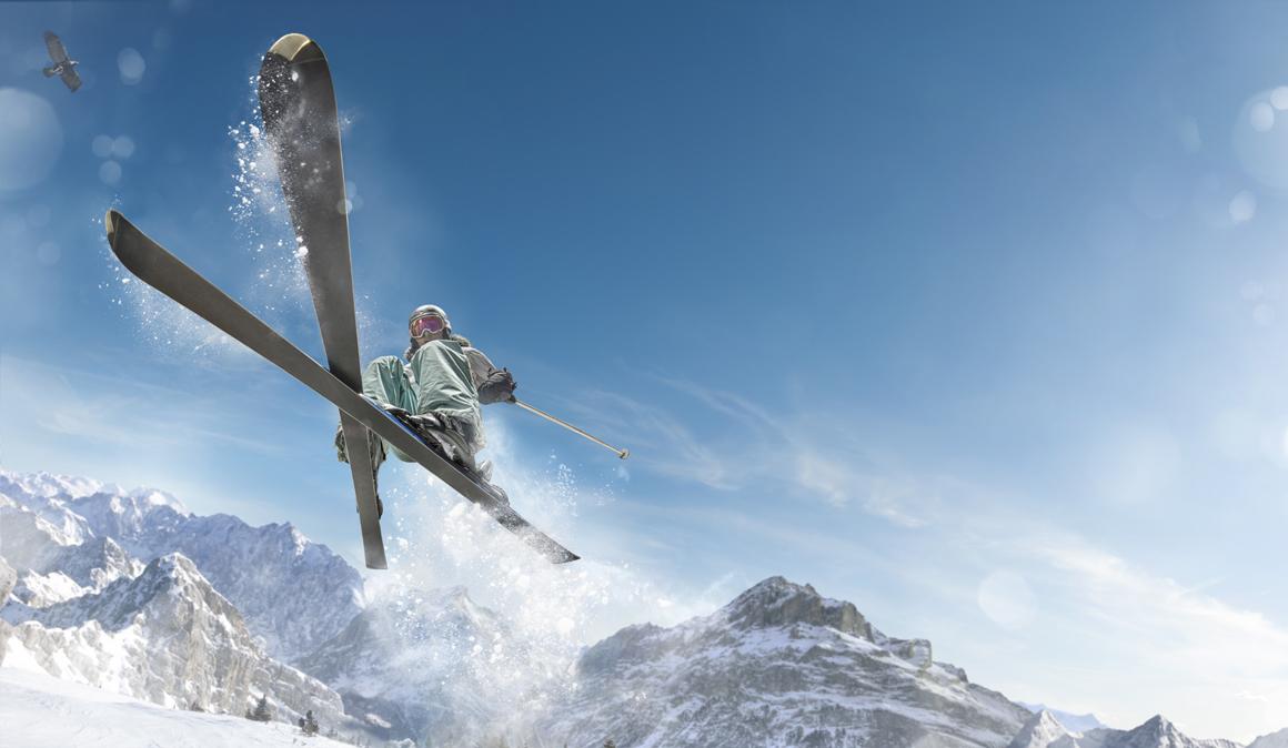 Esquí desde el gimnasio