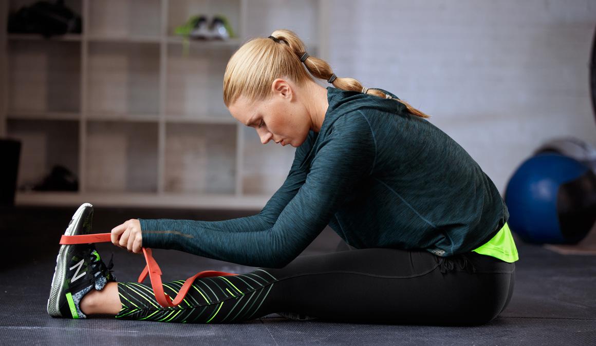 como se hace el estiramiento de tobillo