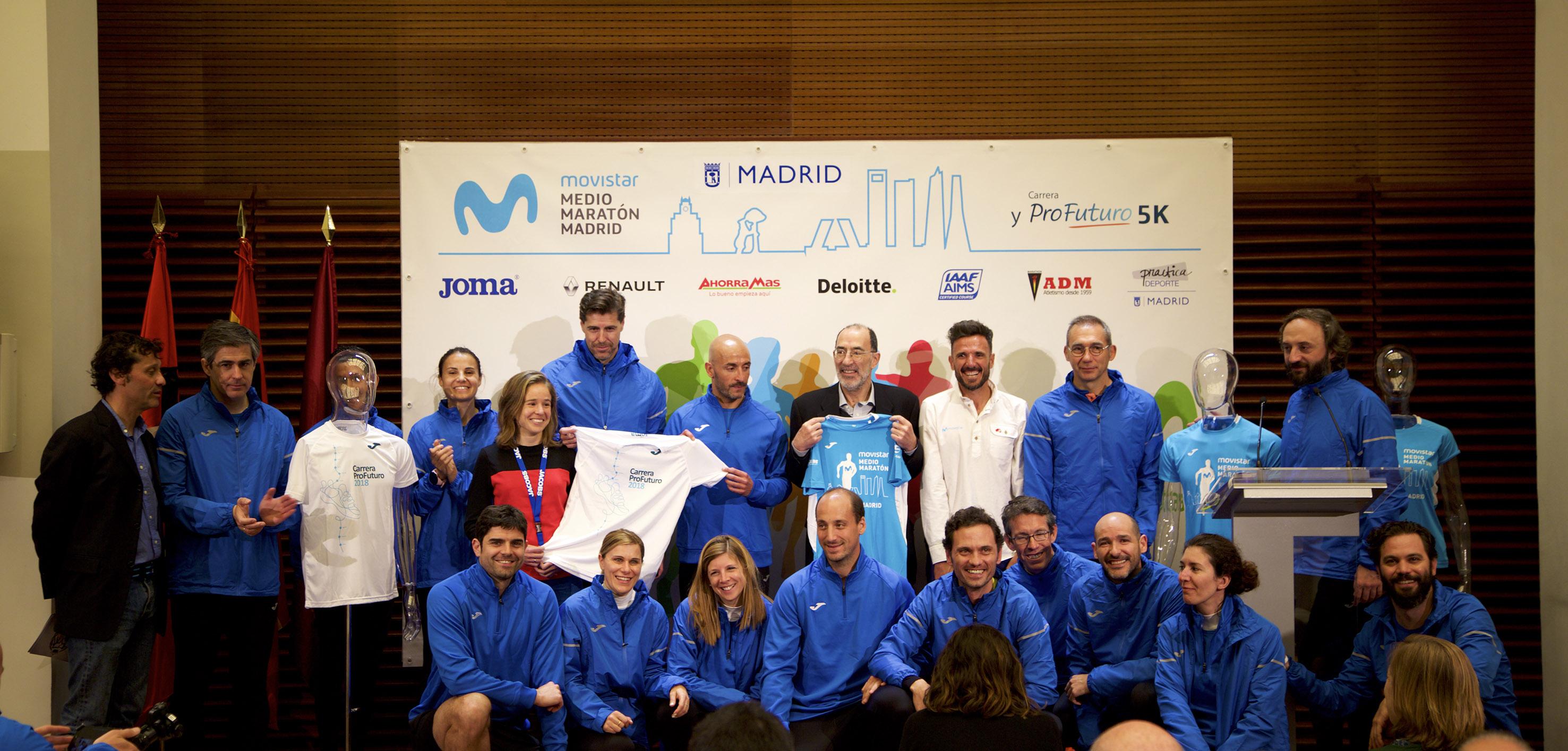 Presentadas las camisetas del Movistar Medio Maratón de Madrid