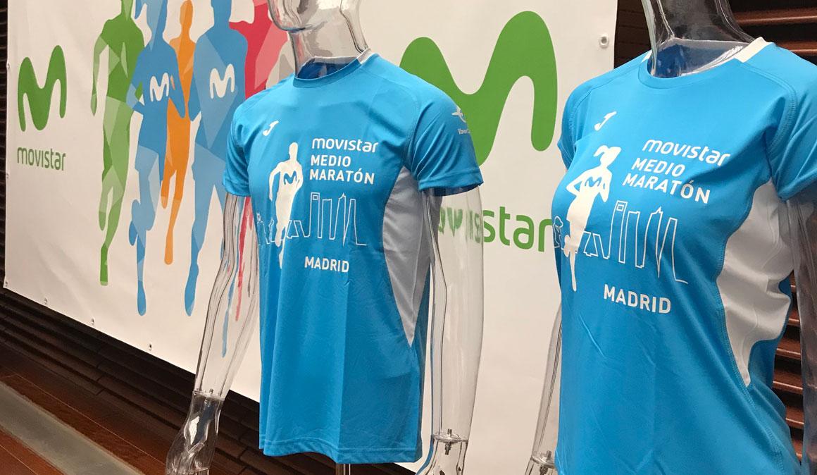 Esta es la camiseta Joma del Medio Maratón de Madrid 2018