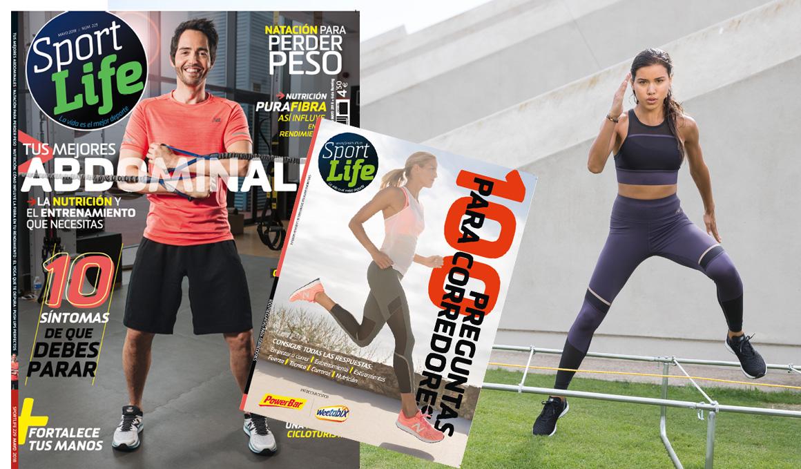 ¡Ya está aquí la Sport Life de mayo y viene acompañada con el libro de las 100 preguntas para corredores!