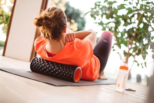 El rodillo de masaje de Decathlon