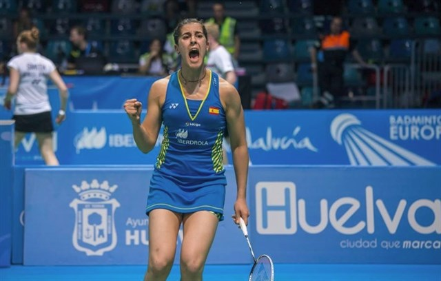 Carolina Marín campeona de Europa por cuarta vez