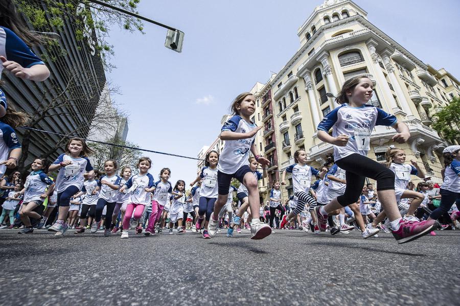 Las carreras infantiles de la Liberty: 1 € solidario y camiseta técnica Mizuno para todos los niños
