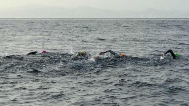 Mari Paz Corominas, primera español en estar una final olímpica, cruza el Estrecho de Gibraltar con 65 años