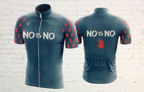 El maillot de bici que protesta de la violencia de género