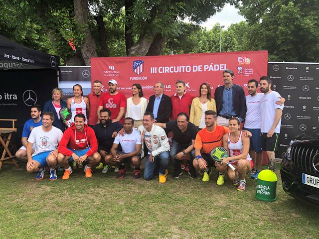 Arranca el torneo solidario de pádel de la Fundación Atlético de Madrid