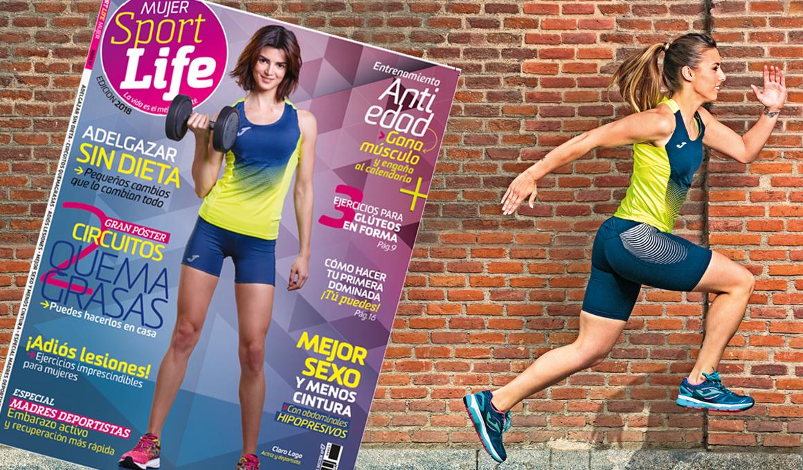 ¡La revista Sport Life Mujer 2018 ya está en quiosco y en portada lleva a la actriz Clara Lago!