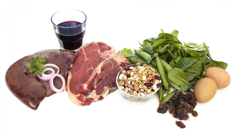 La tabla de alimentos que te ayuda a prevenir las carencias de hierro