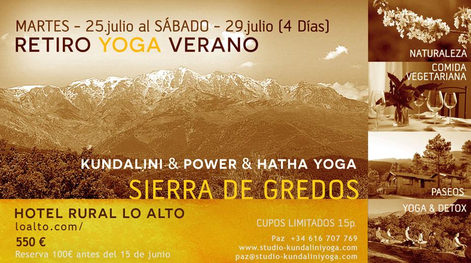 Retiro de Yoga en la Sierra de Gredos
