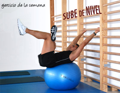 Abdominales con fitnessball