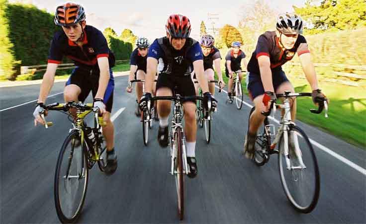 Ciclistas en Cordoba
