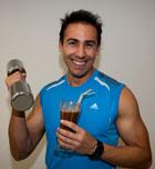 Batido de proteínas para ganar masa muscular, después del entrenamiento