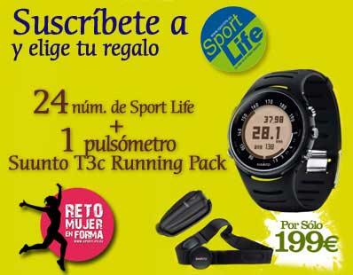 Suscríbete a Sport Life y consigue un completísimo pulsómetro. ¡Y sigue el reto en forma!