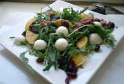 Receta: ensalada de rúcola con arándanos rojos